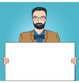 Hipster retro style pop art vector image