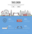 london city travel vacation guide vector image