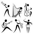 musician symbol vector image