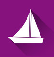 simple ship icon boat symbol modern flat style vector image