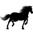 A horse runs vector image vector image