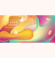 abstract background with multicolor fluid shapes vector image
