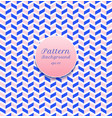 abstract seamless pattern stripe chevron blue and vector image