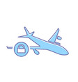 airplane flight lock plane transport travel icon vector image