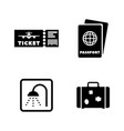 airport simple related icons vector image vector image