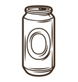 aluminum beer can object vector image