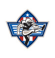 American Football Placekicker vector image