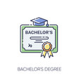 bachelors degree rgb color icon vector image vector image