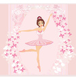Beautiful ballerina - abstract card with vector image
