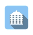 best house flat icon vector image