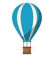 blue airballoon travel recreation adventure shadow vector image