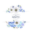 blue anemone banner vector image vector image