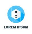 Blue Home Logo vector image vector image