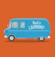 blue old van vector image