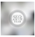 Blurred New Year background vector image vector image