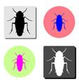 bug flat icon vector image vector image