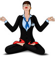 business girl yoga vector image