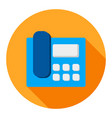 business phone flat icon modern style vector image vector image