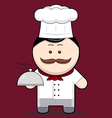 Cartoon cute chef vector image