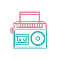 color line radio equipment to listen music with vector image vector image