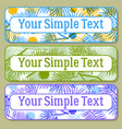 color tags with pine branch set vector image vector image