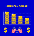 colored infographic decline us exchange rate vector image vector image