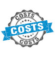 costs stamp sign seal vector image vector image