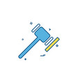 court hammer of justice justice law and order vector image