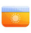 cream sun protect icon cartoon style vector image vector image