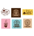 Creative coffee label graphic designs vector image