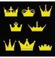 crown collection silhouette Heraldic elements set vector image