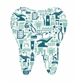 dentistry and dental care symbols in form a vector image vector image