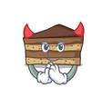 devil tiramisu mascot cartoon style vector image vector image