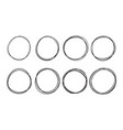doodle circles sketch pen line vector image