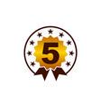 emblem best quality number 5 vector image vector image