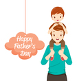 Father Carrying Son On His Shoulders vector image