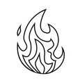 fire small flame symbol isolated on a white vector image vector image