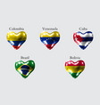 flags of america countries the flags of colombia vector image vector image