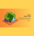 forest home horizontal banner vector image vector image