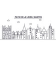 france nantes architecture line skyline vector image vector image