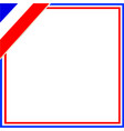 french flag border with corner vector image vector image