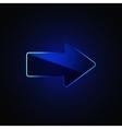 Glass arrow vector image vector image