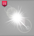 glowing light on transparent background lens vector image