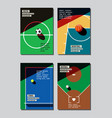 graphic design sport concept sports equipment vector image