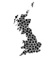great britain map composition of filled circles vector image