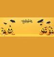halloween banner studio table room product vector image vector image
