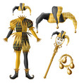 jester costume elements realistic set vector image vector image