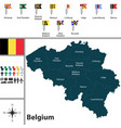 map of belgium vector image vector image