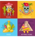 Mexican Colored Compositions vector image