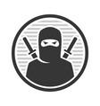 ninja warrior logo icon on white background vector image